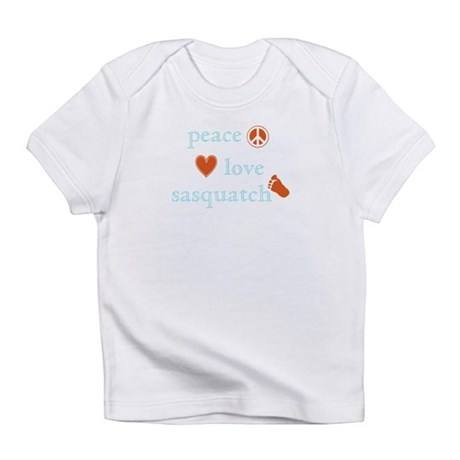 Peace, Love and Sasquatch Infant T-Shirt