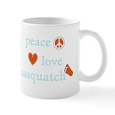 Peace, Love and Sasquatch Mug
