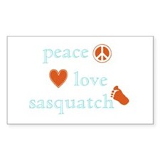Peace, Love and Sasquatch Decal