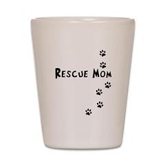Rescue Mom Pawprints Shot Glass