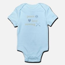 Peace, Love and Rowing Infant Bodysuit