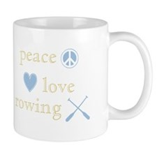 Peace, Love and Rowing Small Mug