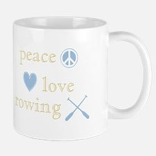 Peace, Love and Rowing Small Small Mug