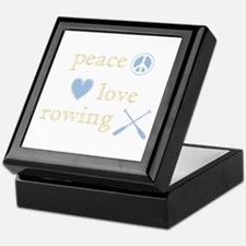 Peace, Love and Rowing Keepsake Box