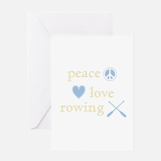 Peace, Love and Rowing Greeting Card