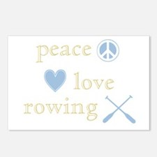 Peace, Love and Rowing Postcards (Package of 8)