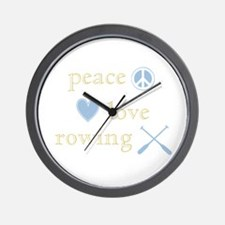 Peace, Love and Rowing Wall Clock