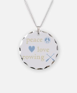Peace, Love and Rowing Necklace