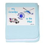 Pilot Grandpa baby blanket