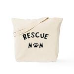 Rescue Mom Paw Tote Bag