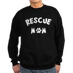 Rescue Mom Paw Sweatshirt (dark)