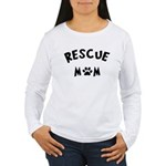 Rescue Mom Paw Women's Long Sleeve T-Shirt