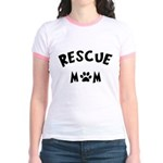 Rescue Mom Paw Jr. Ringer T-Shirt