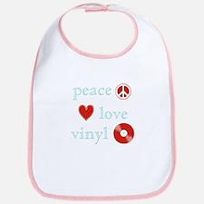 Peace, Love and Vinyl Bib