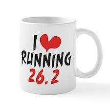 I heart (love) running 26.2 Mug