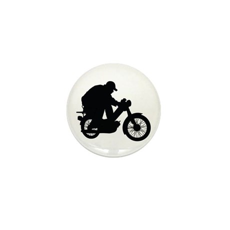 Moped Mini Button
