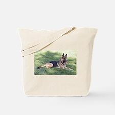 German Shepherd Lying Design Tote Bag