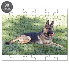 German Shepherd Lying Design Puzzle