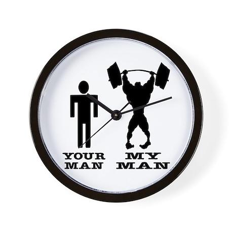 My Man vs. Your Man Wall Clock