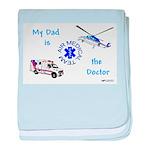 Doctor Dad baby blanket