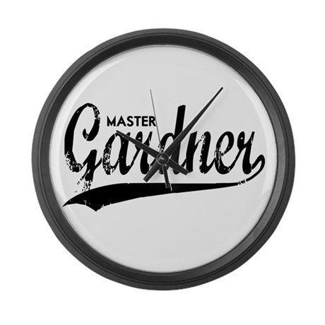 MASTER GARDNER Large Wall Clock