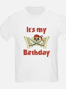 Unique Kids pirate birthday T-Shirt
