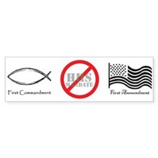 No HHS Mandate Bumper Bumper Sticker