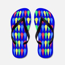 Light Bulbs on Blue: Flip Flops