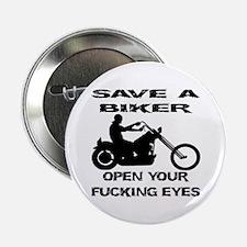 """Save A Biker 2.25"""" Button"""