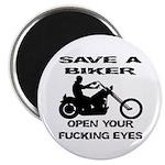 Save A Biker Magnet