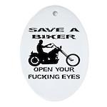 Save A Biker Ornament (Oval)