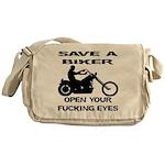 Save A Biker Messenger Bag