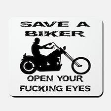 Save A Biker Mousepad
