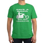 Save A Biker Men's Fitted T-Shirt (dark)