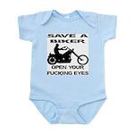 Save A Biker Infant Bodysuit