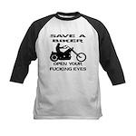 Save A Biker Kids Baseball Jersey