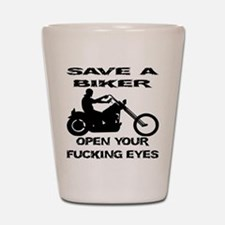 Save A Biker Shot Glass