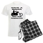 Save A Biker Men's Light Pajamas