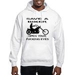 Save A Biker Hooded Sweatshirt