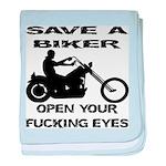 Save A Biker baby blanket