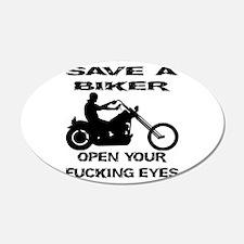 Save A Biker 22x14 Oval Wall Peel