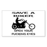 Save A Biker Sticker (Rectangle)