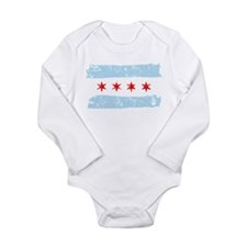Flag of Chicago Long Sleeve Infant Bodysuit