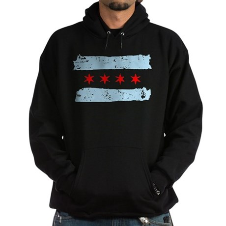 Flag of Chicago Hoodie (dark)