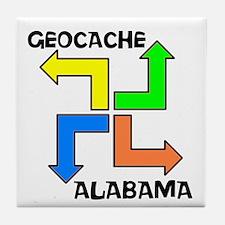 Geocache Alabama Tile Coaster