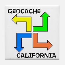 Geocache California Tile Coaster