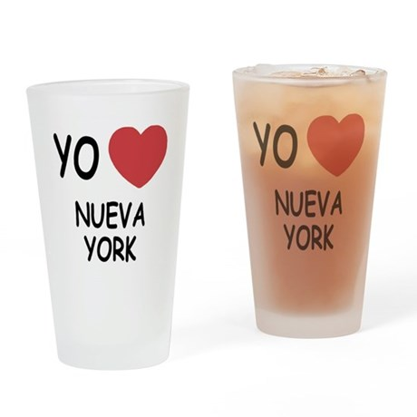 yo amo Nueva York Drinking Glass