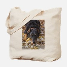 Beauceron Leaves Tote Bag