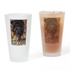 Beauceron Leaves Drinking Glass