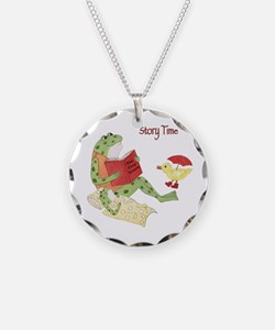Frogs Reading - Story Time Necklace